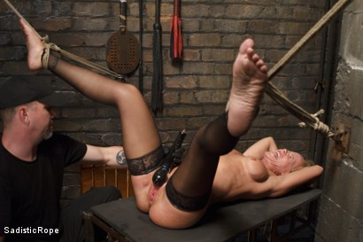 Photo number 5 from Masochistic MILF  shot for Sadistic Rope on Kink.com. Featuring Simone Sonay in hardcore BDSM & Fetish porn.