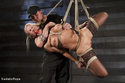 Photo number 9 from Masochistic MILF  shot for Sadistic Rope on Kink.com. Featuring Simone Sonay in hardcore BDSM & Fetish porn.