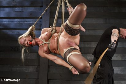 Photo number 4 from Masochistic MILF  shot for Sadistic Rope on Kink.com. Featuring Simone Sonay in hardcore BDSM & Fetish porn.