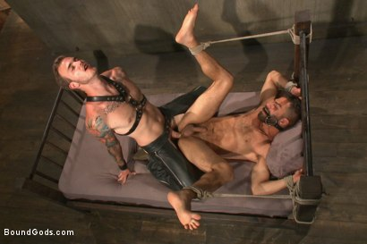 Photo number 12 from At his request, Mr Wilde breaks in a a new sub Adam Ramzi shot for Bound Gods on Kink.com. Featuring Christian Wilde and Adam Ramzi in hardcore BDSM & Fetish porn.