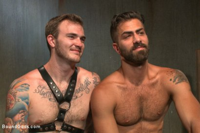 Photo number 15 from At his request, Mr Wilde breaks in a a new sub Adam Ramzi shot for Bound Gods on Kink.com. Featuring Christian Wilde and Adam Ramzi in hardcore BDSM & Fetish porn.