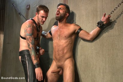 Photo number 3 from At his request, Mr Wilde breaks in a a new sub Adam Ramzi shot for Bound Gods on Kink.com. Featuring Christian Wilde and Adam Ramzi in hardcore BDSM & Fetish porn.