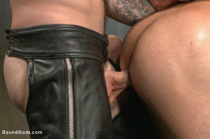 Photo number 8 from At his request, Mr Wilde breaks in a a new sub Adam Ramzi shot for Bound Gods on Kink.com. Featuring Christian Wilde and Adam Ramzi in hardcore BDSM & Fetish porn.