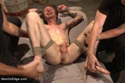 Photo number 14 from Stud taken from a straight porn shoot and made to suck cock shot for Men On Edge on Kink.com. Featuring Patrick Knight in hardcore BDSM & Fetish porn.