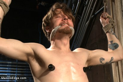 Photo number 4 from Stud taken from a straight porn shoot and made to suck cock shot for Men On Edge on Kink.com. Featuring Patrick Knight in hardcore BDSM & Fetish porn.