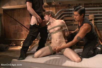 Photo number 10 from Stud taken from a straight porn shoot and made to suck cock shot for Men On Edge on Kink.com. Featuring Patrick Knight in hardcore BDSM & Fetish porn.