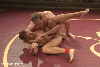 "Photo number 2 from John ""Suplex"" Smith vs Logan ""Leg-Lock"" Vaughn  shot for Naked Kombat on Kink.com. Featuring Jonah Marx and Logan Vaughn in hardcore BDSM & Fetish porn."