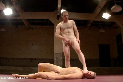 "Photo number 13 from John ""Suplex"" Smith vs Logan ""Leg-Lock"" Vaughn  shot for Naked Kombat on Kink.com. Featuring Jonah Marx and Logan Vaughn in hardcore BDSM & Fetish porn."
