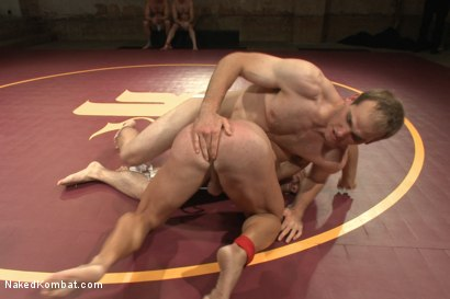 "Photo number 3 from John ""Suplex"" Smith vs Logan ""Leg-Lock"" Vaughn  shot for Naked Kombat on Kink.com. Featuring Jonah Marx and Logan Vaughn in hardcore BDSM & Fetish porn."