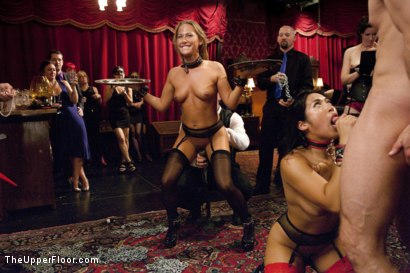 Photo number 4 from Dick Games shot for The Upper Floor on Kink.com. Featuring Bill Bailey, Carter Cruise and Mia Li in hardcore BDSM & Fetish porn.