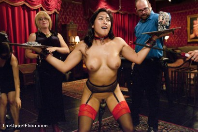Photo number 6 from Dick Games shot for The Upper Floor on Kink.com. Featuring Bill Bailey, Carter Cruise and Mia Li in hardcore BDSM & Fetish porn.