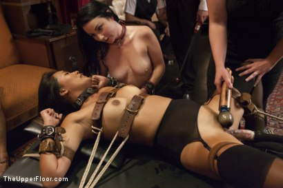 Photo number 4 from Veruca's Toy shot for The Upper Floor on Kink.com. Featuring Karlo Karrera, Veruca James and Angelina Chung in hardcore BDSM & Fetish porn.
