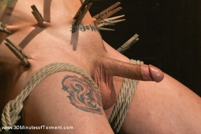 Photo number 2 from Straight stud gets his ass tormented by a cock for the very first time shot for 30 Minutes of Torment on Kink.com. Featuring Reed Jameson in hardcore BDSM & Fetish porn.