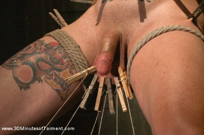 Photo number 4 from Straight stud gets his ass tormented by a cock for the very first time shot for 30 Minutes of Torment on Kink.com. Featuring Reed Jameson in hardcore BDSM & Fetish porn.