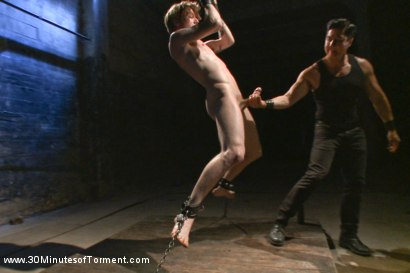 Photo number 3 from Head Buzzed, Ass Stretched and Water Tormented to The Extreme shot for 30 Minutes of Torment on Kink.com. Featuring Patrick Knight in hardcore BDSM & Fetish porn.