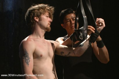 Photo number 11 from Head Buzzed, Ass Stretched and Water Tormented to The Extreme shot for 30 Minutes of Torment on Kink.com. Featuring Patrick Knight in hardcore BDSM & Fetish porn.