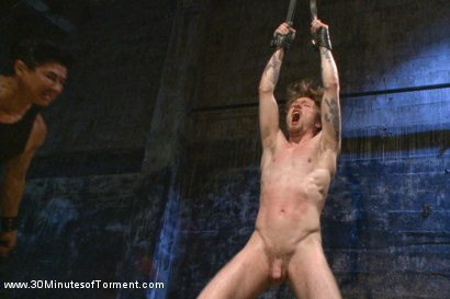 Photo number 4 from Head Buzzed, Ass Stretched and Water Tormented to The Extreme shot for 30 Minutes of Torment on Kink.com. Featuring Patrick Knight in hardcore BDSM & Fetish porn.