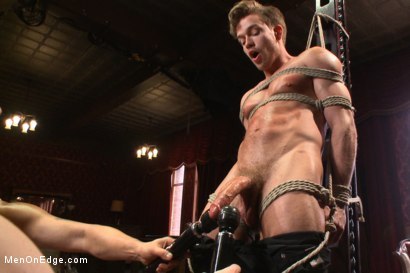 Photo number 6 from Bi hunk with an enormous cock just aching to cum shot for Men On Edge on Kink.com. Featuring Lucas Knight in hardcore BDSM & Fetish porn.