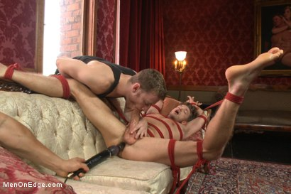 Photo number 13 from Bi hunk with an enormous cock just aching to cum shot for Men On Edge on Kink.com. Featuring Lucas Knight in hardcore BDSM & Fetish porn.
