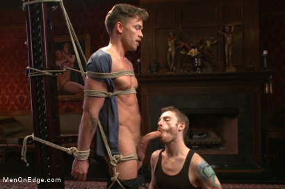 Photo number 4 from Bi hunk with an enormous cock just aching to cum shot for Men On Edge on Kink.com. Featuring Lucas Knight in hardcore BDSM & Fetish porn.