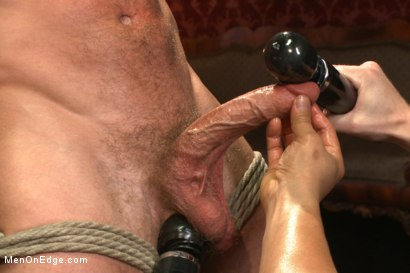 Photo number 5 from Bi hunk with an enormous cock just aching to cum shot for Men On Edge on Kink.com. Featuring Lucas Knight in hardcore BDSM & Fetish porn.