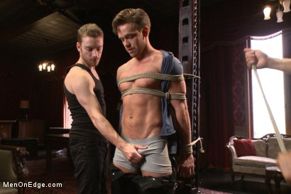 Photo number 2 from Bi hunk with an enormous cock just aching to cum shot for Men On Edge on Kink.com. Featuring Lucas Knight in hardcore BDSM & Fetish porn.