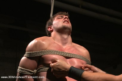 Photo number 3 from Bi Gymnast Takes the 30MT Challenge! shot for 30 Minutes of Torment on Kink.com. Featuring Scott Harbor in hardcore BDSM & Fetish porn.