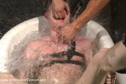 Photo number 13 from Straight Kickboxer gets dunked while shooting his load shot for 30 Minutes of Torment on Kink.com. Featuring Rob Yaeger in hardcore BDSM & Fetish porn.
