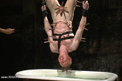 Photo number 11 from Straight Kickboxer gets dunked while shooting his load shot for 30 Minutes of Torment on Kink.com. Featuring Rob Yaeger in hardcore BDSM & Fetish porn.