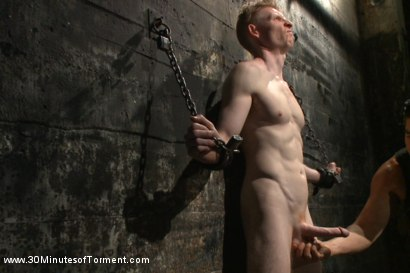 Photo number 2 from Straight Kickboxer gets dunked while shooting his load shot for 30 Minutes of Torment on Kink.com. Featuring Rob Yaeger in hardcore BDSM & Fetish porn.