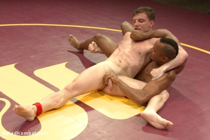 """Photo number 6 from Troy """"The Tank"""" Sparks vs Doug """"The Destroyer"""" Acre shot for Naked Kombat on Kink.com. Featuring Doug Acre and Troy Sparks in hardcore BDSM & Fetish porn."""