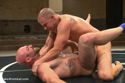 "Photo number 14 from Hot muscled newbie Tatum ""The Beast"" takes on Eli ""The Hammer"" Hunter shot for Naked Kombat on Kink.com. Featuring Eli Hunter and Tatum in hardcore BDSM & Fetish porn."