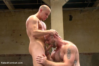 "Photo number 9 from Hot muscled newbie Tatum ""The Beast"" takes on Eli ""The Hammer"" Hunter shot for Naked Kombat on Kink.com. Featuring Eli Hunter and Tatum in hardcore BDSM & Fetish porn."