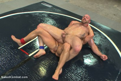 "Photo number 7 from Hot muscled newbie Tatum ""The Beast"" takes on Eli ""The Hammer"" Hunter shot for Naked Kombat on Kink.com. Featuring Eli Hunter and Tatum in hardcore BDSM & Fetish porn."