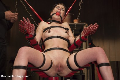 Photo number 10 from Chair of Doom shot for Device Bondage on Kink.com. Featuring Juliette March in hardcore BDSM & Fetish porn.