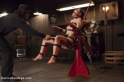Photo number 11 from Chair of Doom shot for Device Bondage on Kink.com. Featuring Juliette March in hardcore BDSM & Fetish porn.