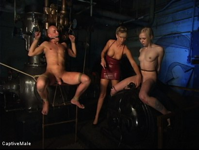 Photo number 14 from Miss Audrey's Slaves shot for Captive Male on Kink.com. Featuring Audrey Leigh, Chad Rock and Sarah Jane Ceylon in hardcore BDSM & Fetish porn.
