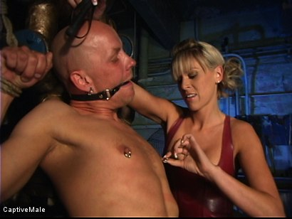 Photo number 18 from Miss Audrey's Slaves shot for Captive Male on Kink.com. Featuring Audrey Leigh, Chad Rock and Sarah Jane Ceylon in hardcore BDSM & Fetish porn.