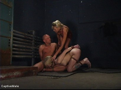 Photo number 9 from Miss Audrey's Slaves shot for Captive Male on Kink.com. Featuring Audrey Leigh, Chad Rock and Sarah Jane Ceylon in hardcore BDSM & Fetish porn.