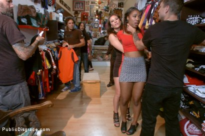 Photo number 3 from Eager Doe-eyed Slut fucked, humiliated and left at local Vintage Store shot for Public Disgrace on Kink.com. Featuring Chanell Heart, Mr. Pete and Ariel X in hardcore BDSM & Fetish porn.