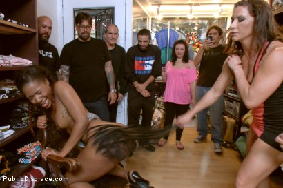 Photo number 14 from Eager Doe-eyed Slut fucked, humiliated and left at local Vintage Store shot for Public Disgrace on Kink.com. Featuring Chanell Heart, Mr. Pete and Ariel X in hardcore BDSM & Fetish porn.