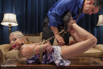 Photo number 3 from My Spoiled Wife shot for Hogtied on Kink.com. Featuring Christie Stevens in hardcore BDSM & Fetish porn.