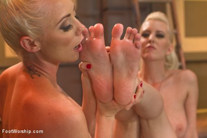 Photo number 8 from Bootlicking Babes Part 1 shot for Foot Worship on Kink.com. Featuring Cherry Torn and Lorelei Lee in hardcore BDSM & Fetish porn.