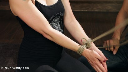 Photo number 16 from Shibari 101 - Basic Column Ties shot for Kink University on Kink.com. Featuring Kanso and True Blue in hardcore BDSM & Fetish porn.