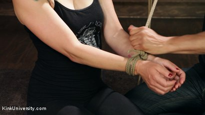 Photo number 17 from Shibari 101 - Basic Column Ties shot for Kink University on Kink.com. Featuring Kanso and True Blue in hardcore BDSM & Fetish porn.