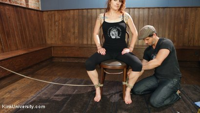 Photo number 21 from Shibari 101 - Basic Column Ties shot for Kink University on Kink.com. Featuring Kanso and True Blue in hardcore BDSM & Fetish porn.