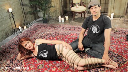 Photo number 2 from Shibari 201 - Futomomo Leg Binding and Leg Lacing shot for Kink University on Kink.com. Featuring Kanso and True Blue in hardcore BDSM & Fetish porn.