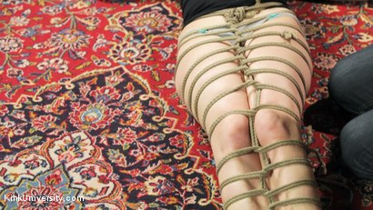 Photo number 13 from Shibari 201 - Futomomo Leg Binding and Leg Lacing shot for Kink University on Kink.com. Featuring Kanso and True Blue in hardcore BDSM & Fetish porn.