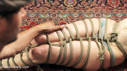 Photo number 14 from Shibari 201 - Futomomo Leg Binding and Leg Lacing shot for Kink University on Kink.com. Featuring Kanso and True Blue in hardcore BDSM & Fetish porn.