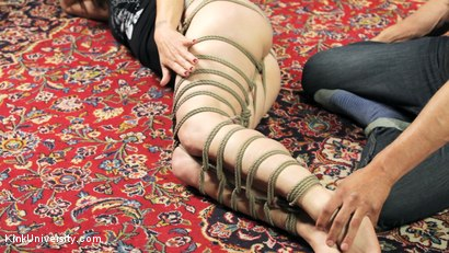Photo number 15 from Shibari 201 - Futomomo Leg Binding and Leg Lacing shot for Kink University on Kink.com. Featuring Kanso and True Blue in hardcore BDSM & Fetish porn.
